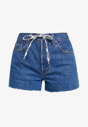 501 HR LOGODRAW - Denim shorts - draw back