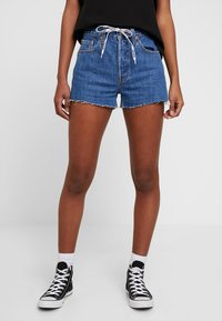 Levi's® - 501 HR LOGODRAW - Shorts vaqueros - draw back - 0