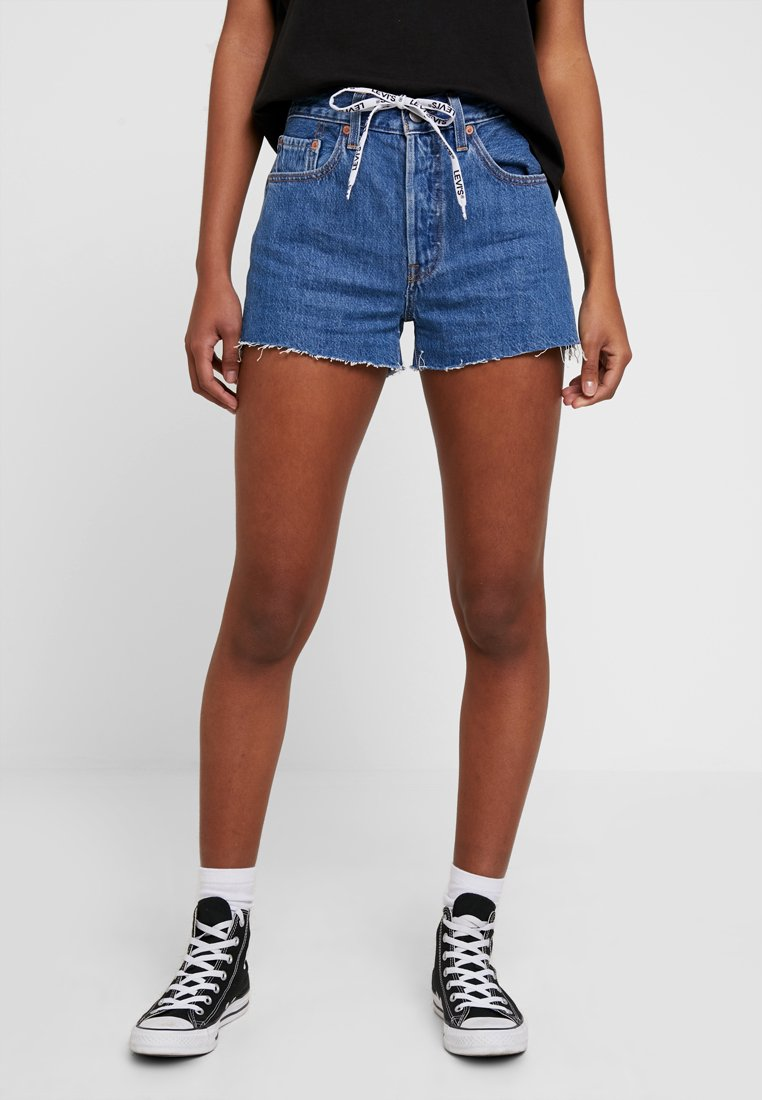 Levi's® - 501 HR LOGODRAW - Denim shorts - draw back