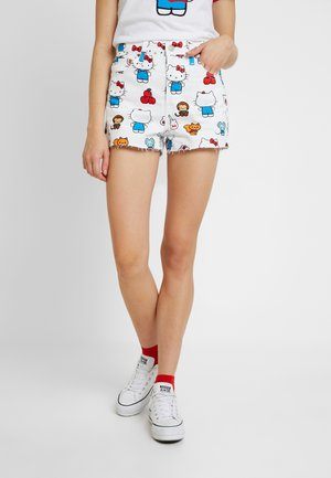 LEVI'S® X HELLO-KITTY RIBCAGE SHORT - Denim shorts - white