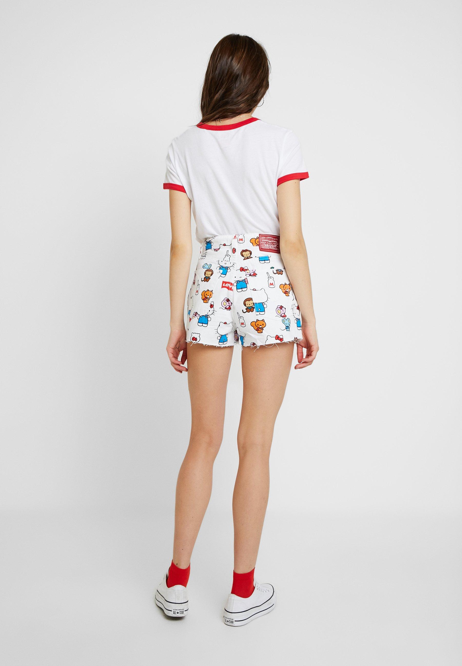 Levi's® LEVI'S® X HELLO-KITTY RIBCAGE SHORT - Shorts di jeans white