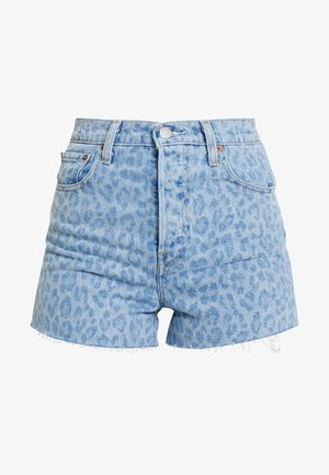 RIBCAGE  - Denim shorts - leopard