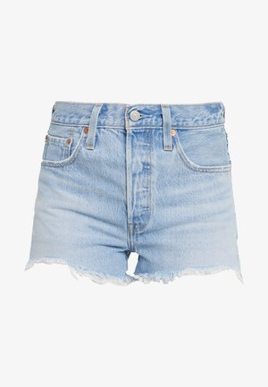 501® ORIGINAL SHORT - Džínové kraťasy - light-blue denim