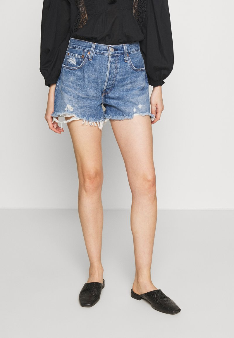 Levi's® - 501® ORIGINAL - Denim shorts - athens mid short