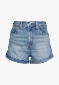 Levi's® - MOM A LINE  - Denim shorts - bandit blue - 4