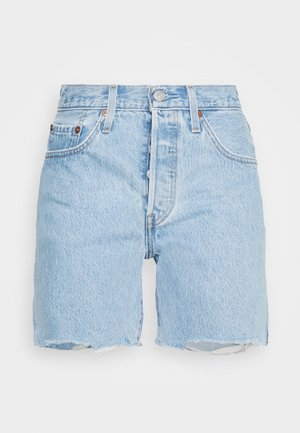 501® MID THIGH - Shorts vaqueros - light blue denim