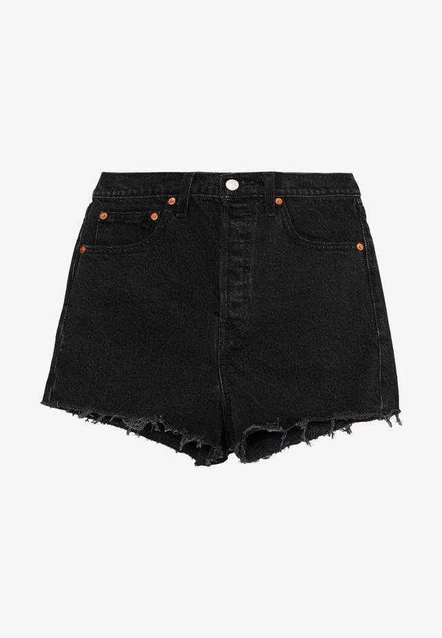 RIBCAGE - Szorty jeansowe - black bayou