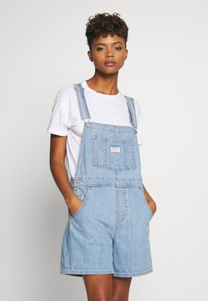 VINTAGE SHORTALL - Snekkerbukse - light-blue denim