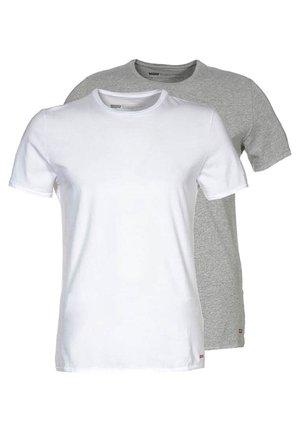 SLIM FIT 2 PACK  - T-shirt basic - mid mele/white