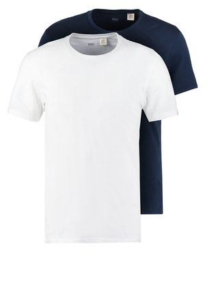 SLIM FIT 2 PACK  - Jednoduché triko - navy/white