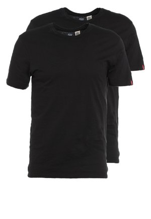 SLIM FIT 2 PACK  - T-shirt - bas - black