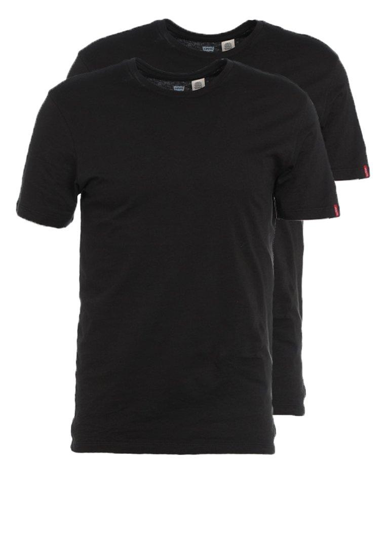 Levi's® - SLIM FIT 2 PACK  - T-shirt - bas - black