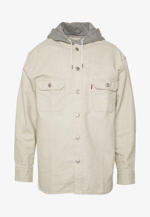 HOODED JACKSON OVERSHIRT - Bluzka z długim rękawem - fog