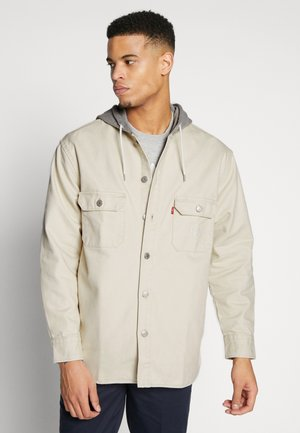 HOODED JACKSON OVERSHIRT - Lehká bunda - fog