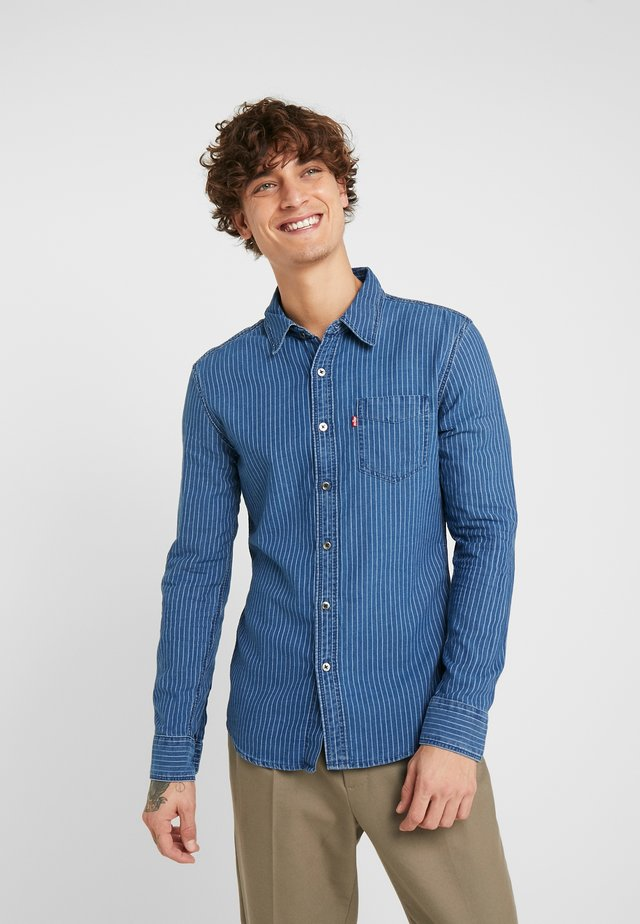 SUNSET SLIM - Overhemd - modern indigo rinse