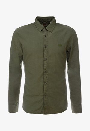 BATTERY SHIRT SLIM - Shirt - olive night