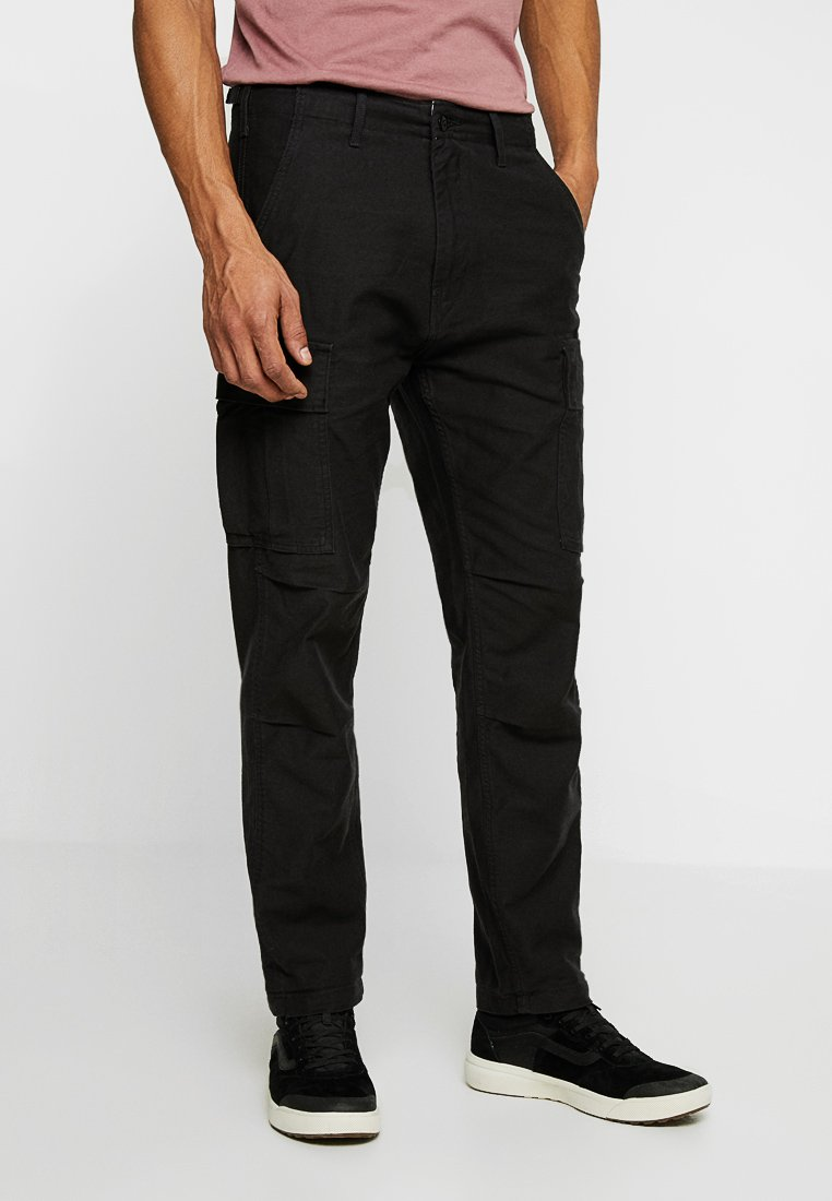 Levi's® - HI-BALL CARGO - Cargo trousers - black back satin