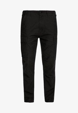 HI-BALL CARGO - Pantalon cargo - black back satin