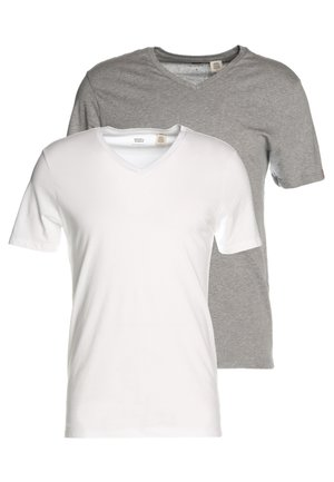 NECK TEE SLIM FIT 2 PACK - T-shirt - bas - mottled grey