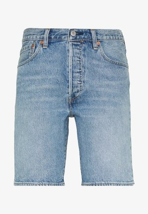 501® HEMMED SHORT - Denim shorts - island stream
