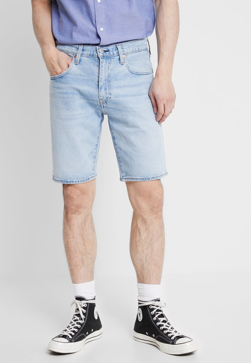 Levi's® - 502™ TAPER HEMMED - Jeansshort - light-blue denim