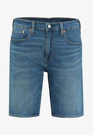 TAPER HEMMED - Denim shorts - stone blue denim