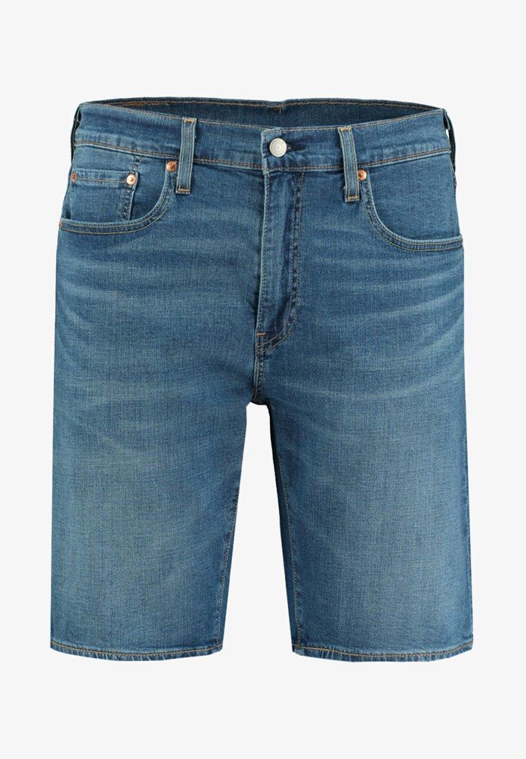 Levi's® - TAPER HEMMED - Denim shorts - stone blue denim