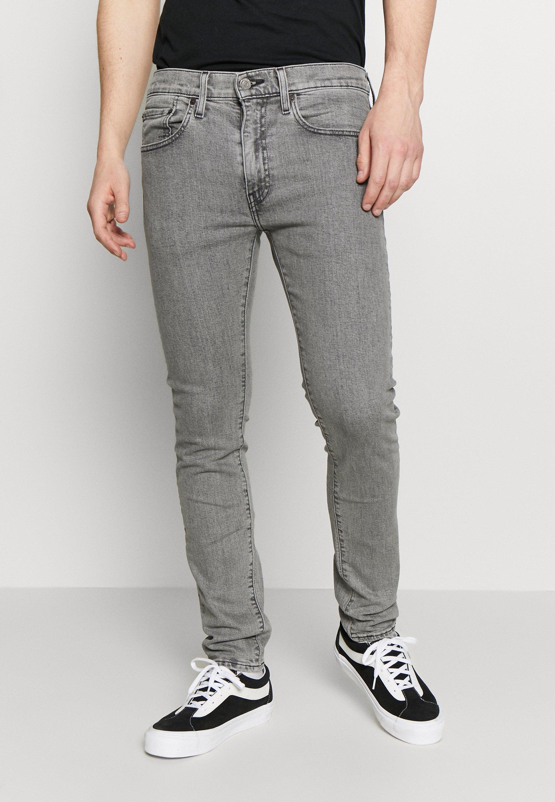 Levi's® 519™ EXTREME SKINNY FIT - Jeansy Skinny Fit - grey denim