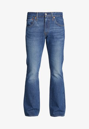 527™ SLIM - Jeansy Bootcut - dark-blue denim