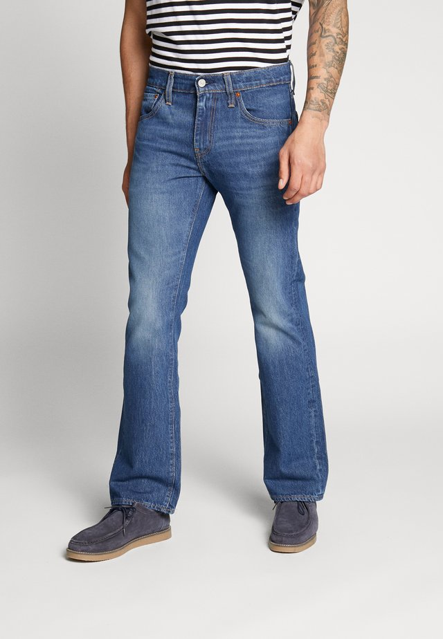 527™ SLIM - Bootcut jeans - dark-blue denim