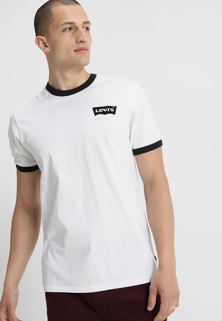 Levi's® - 501 RINGER TEE HOUSEMARK - Camiseta estampada - ringer white/black