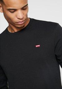 Levi's® - ORIGINAL TEE - Bluzka z długim rękawem - black - 4