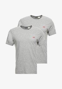 Levi's® - CREWNECK TEE 2 PACK - T-shirt - bas - mottled grey - 3