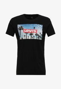 Levi's® - GRAPHIC SET IN NECK - T-Shirt print - mineral black - 4