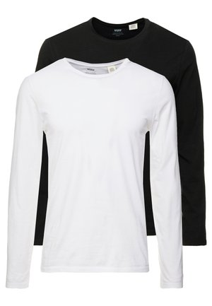 SLIM CREWNECK 2 PACK - Longsleeve - white/black