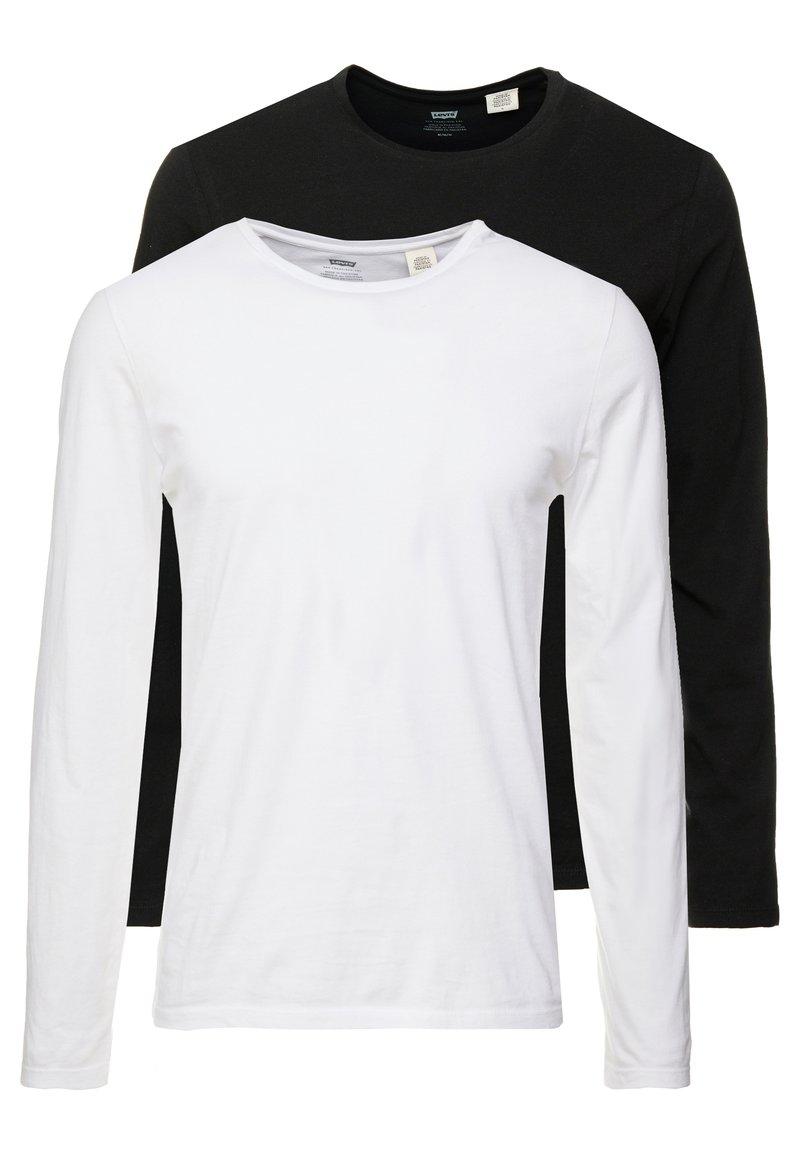 Levi's® - SLIM CREWNECK 2 PACK - T-shirt à manches longues - white/black