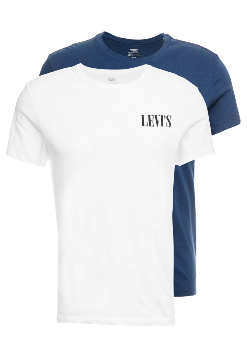 Levi's® - CREWNECK GRAPHIC 2 PACK - T-shirt print - white/dress blues