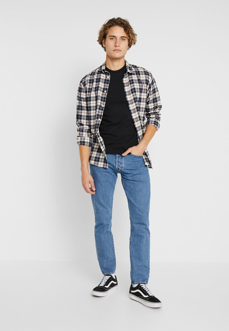Levi's® - SLIM CREWNECK 2 PACK - T-shirt basique - black