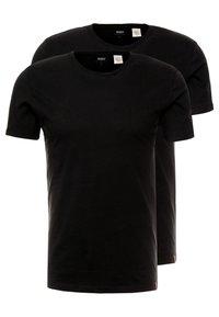 Levi's® - SLIM CREWNECK 2 PACK - T-paita - black - 0