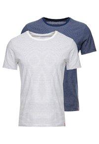Levi's® - CREWNECK 2 PACK - T-shirt - bas - white/dark blue - 0