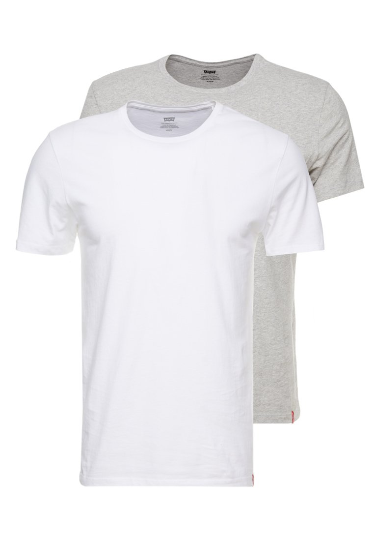 Levi's® - CREWNECK 2 PACK - Basic T-shirt - white/heather grey