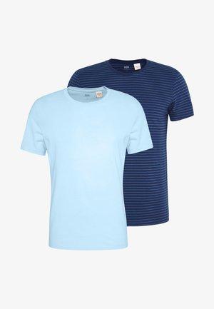 CREWNECK 2 PACK - Print T-shirt - dark blue/blue