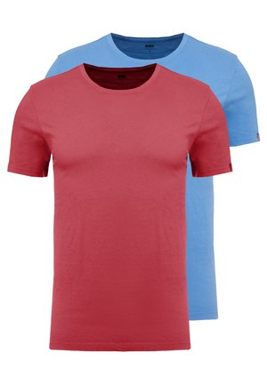 CREWNECK 2 PACK - Print T-shirt - riverside/earth red