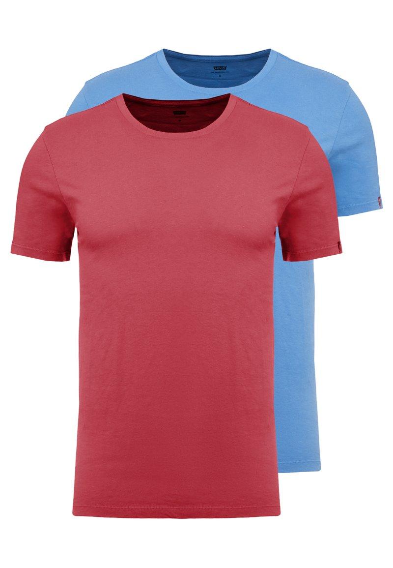 Levi's® - CREWNECK 2 PACK - T-shirt z nadrukiem - riverside/earth red