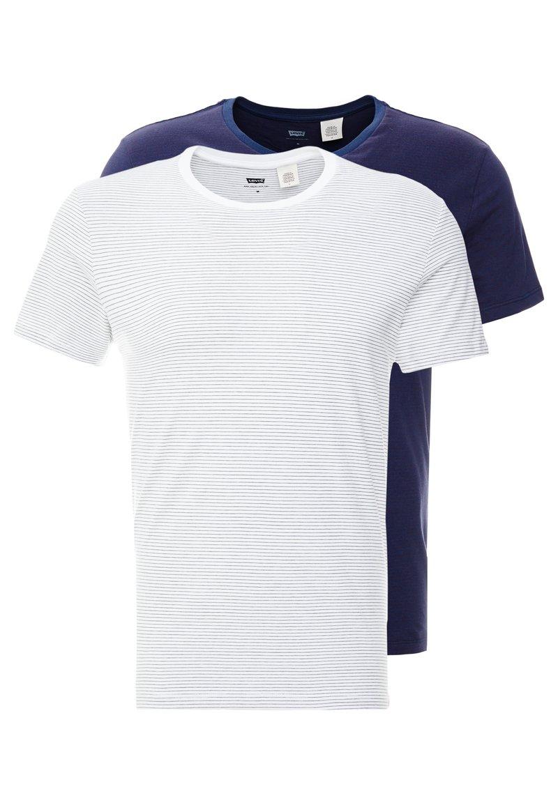 Levi's® - CREWNECK 2 PACK - Basic T-shirt - olive/white/dress blues