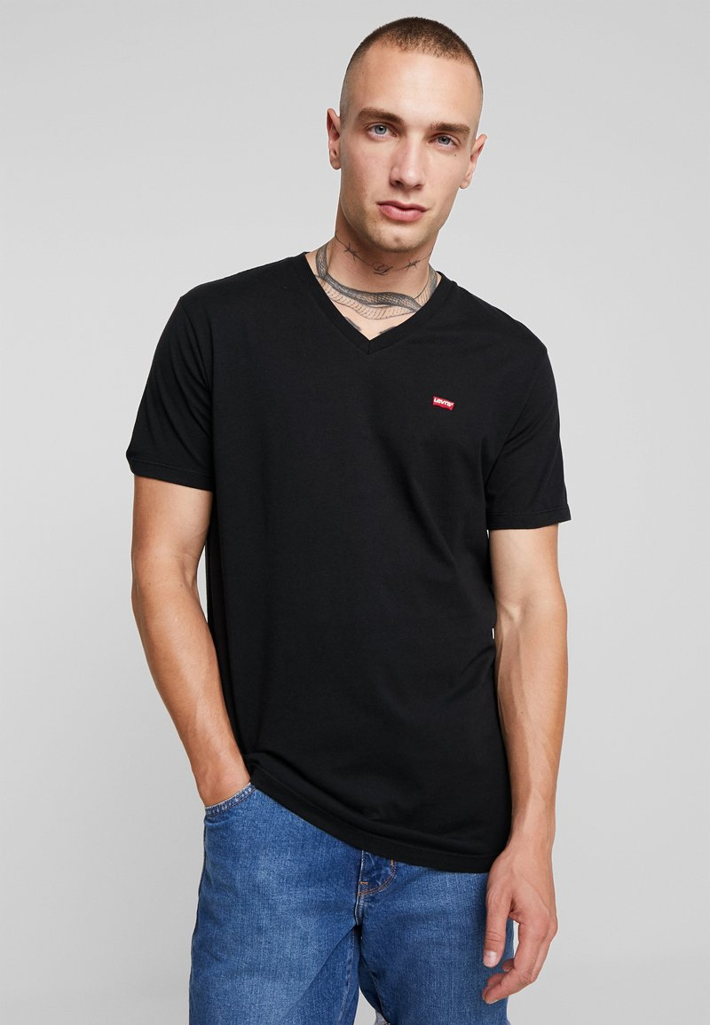 Levi's® - ORIGINAL V-NECK - T-shirt basique - mineral black