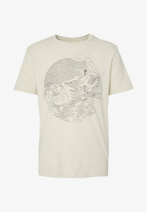 WELLTHREAD POCKET TEE - T-shirt print - sand