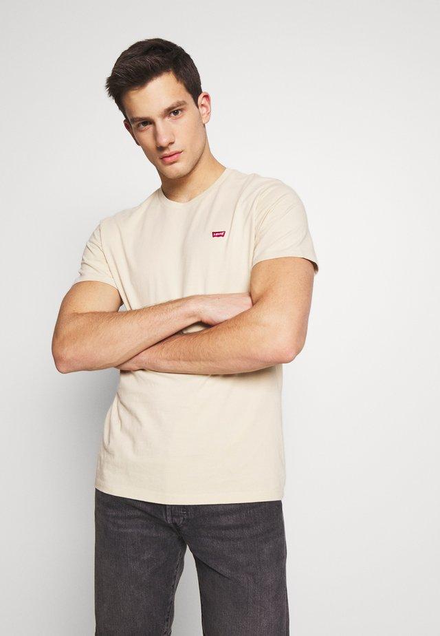THE ORIGINAL TEE - T-shirt med print - beige