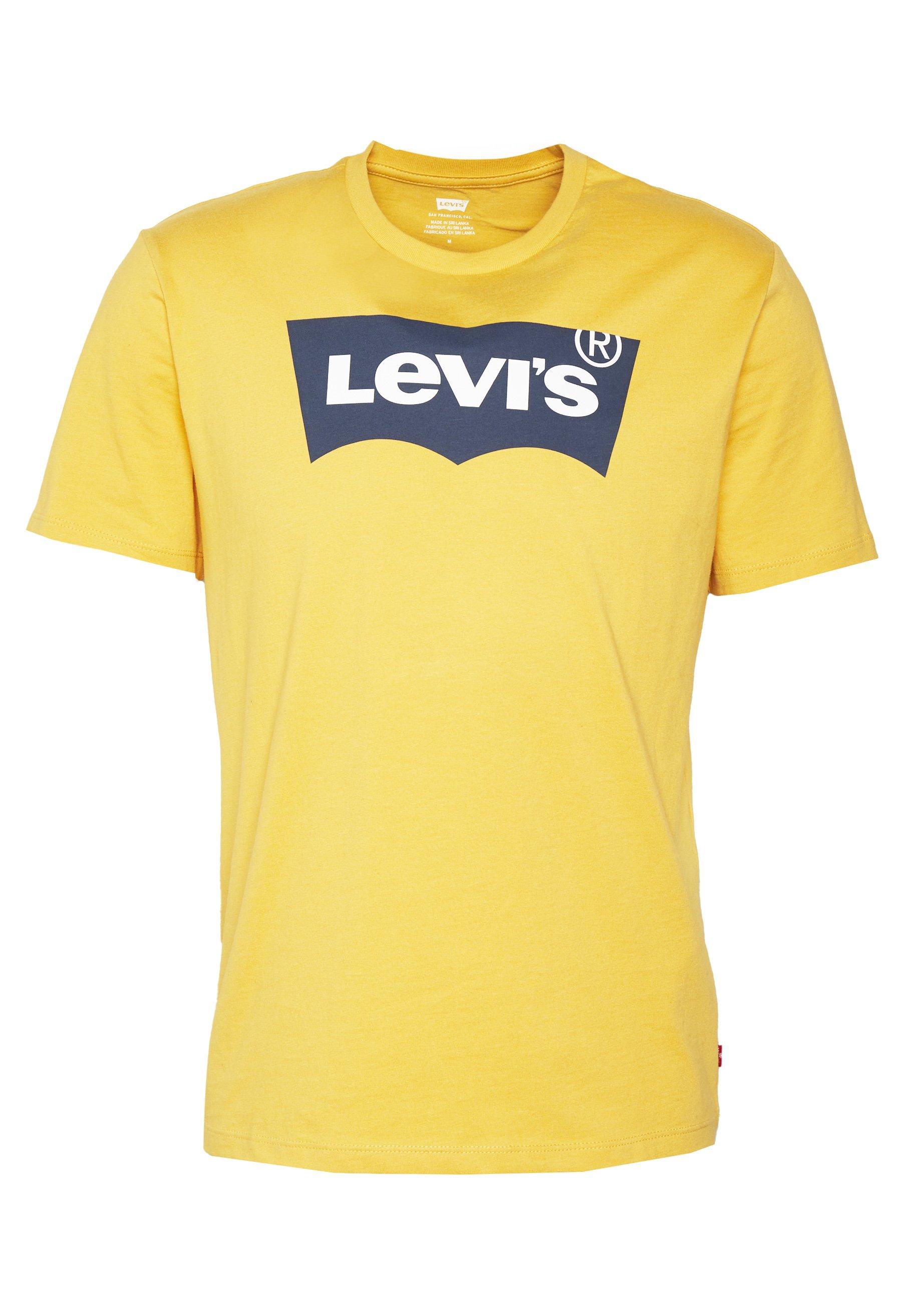 Levi's® HOUSEMARK GRAPHIC TEE - T-shirt z nadrukiem - golden apricot