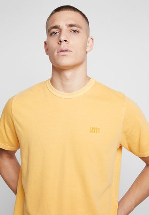 AUTHENTIC CREWNECK TEE - Camiseta básica - golden apricot